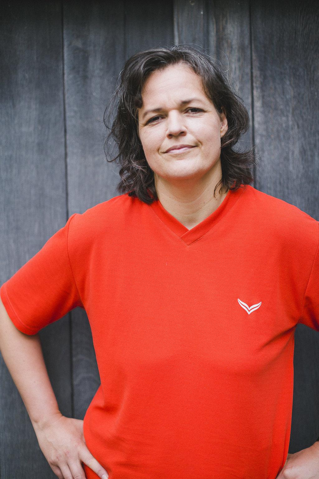 Die Fitnesstrainerin Simone Brune